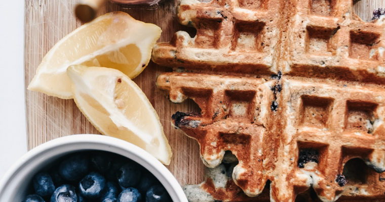 Lemon Blueberry Paleo Waffles