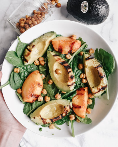 Grilled Avocado and Peach Salad